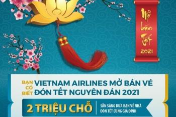 VIETNAM AIRLINES MỞ BÁN VÉ TẾT TÂN SỬU 2021